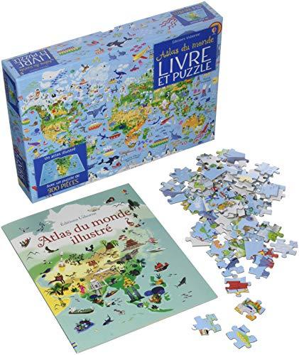 Coffret Atlas du monde (livre + puzzle de 300 pièces) par Sam Baer