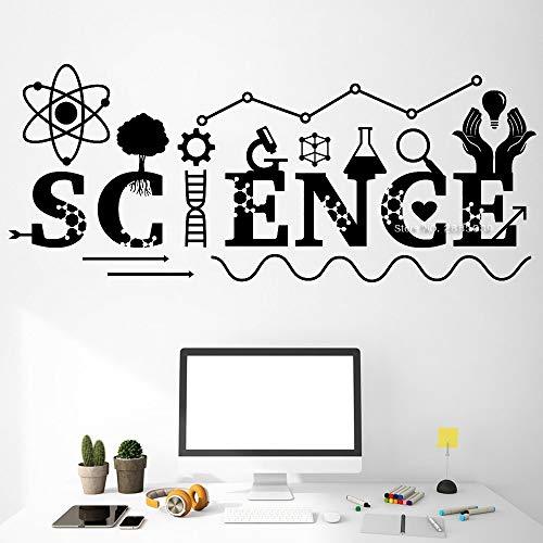 134cm x 56cm Fantastische Wissenschaft zitiert Wandtattoo Art Wall Decor Chemie Instrument Klassenzimmer Decals Teen Boy Schlafzimmer Dekor Aufkleber Hot (Fantastischen Vier Decal)