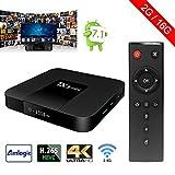 Sawpy Tanix Smart tv box Android 7.1 Amlogic 2GB+16GB 4K UHD WiFi & LAN VP9 DLNA H.265 immagine