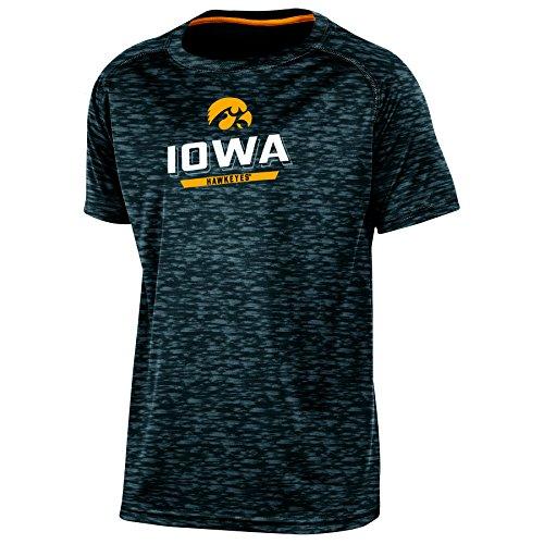 Champion NCAA Jungen T-Shirt Youth The Fade Short Sleeve, Jungen, NCAA Youth Boy's The Fade Short Sleeve T-Shirt, schwarz, X-Large (Elite Basketball Socks Youth)