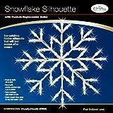 The Benross Christmas Workshop Snowflake Silhouette Light, White