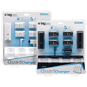 "Wii – Charging Station ""Quad Charger"" (black & white sortiert)"