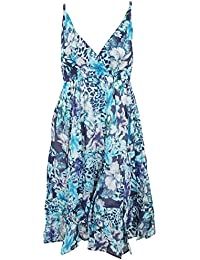 Universal Textiles Womens/Ladies Hawaiian and Leopard Pattern Strappy Crossover Summer Dress