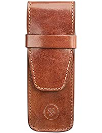 Maxwell Scott Italian Leather Fountain Pen Case - Pienza