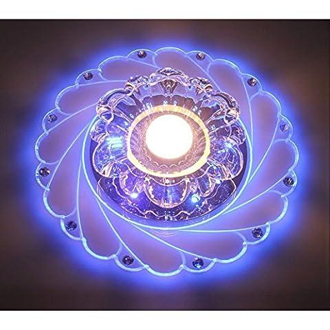 LED Crystal Deckenleuchte - SENYANG Circular Wohnzimmer Lampe Wohnzimmer Deckenleuchte rotunda Licht Hauptschlafzimmer warmes Licht 5W