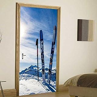 JUN Wandsticker Snow Mountain Snowboard kreative Tür Aufkleber Art Deco Wandaufkleber