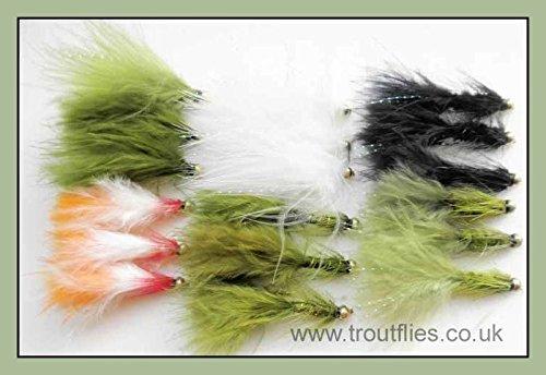 18GOLDHEAD Forellenangeln Fliegen, Köder, Haken, Größe 10-Bead Head Angeln Fliegen