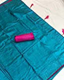 Global Exporter Exclusive Rich Collection of Original Soft Sana Silk For Women's | Silver Coin Work | 12 Color | Blouse