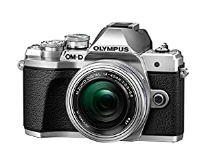 Olympus OM-D E-M10 Mark III Compact System Camera with 14-42 EZ Zoom Lens - Silver