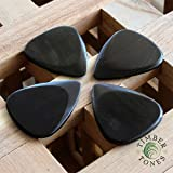 Timber Tones Lot de 4 médiators en bois pour guitare électrique