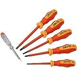 Brüder Mannesmann Werkzeuge 6-teilig Schraubendrehersatz - geprüft nach EN 60900:2012, 1 Stück, M11226