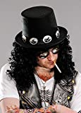 8in1 1980er Jahre Rockstar Slash Style Black Top Hut mit Band