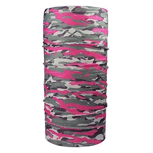 ebos Qualitatives Multifunktionstuch   Schlauchtuch, Multischal, Bandana, Halstuch, Kopftuch   Ideal als Snowboardtuch, Fashion, etc!   in verschiedenen Designs erhältlich (Camouflage rot)