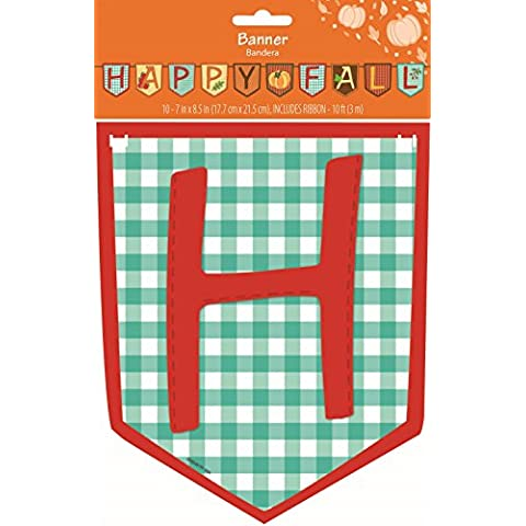 Thanksgiving Autumn Decor ''Happy Fall'' Paper Banner - 10' by Retail