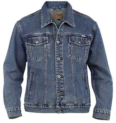 Duke KS1303 Denim Jeans-Jacke stonewashed in Übergrößen: Farbe: stone   Größe: 66-6XL
