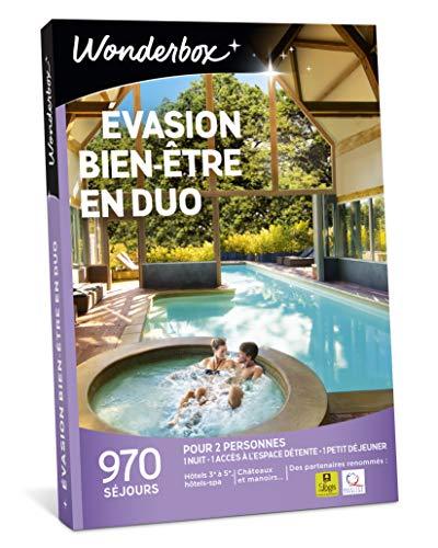 Wonderbox - Coffret cadeau couple noel - ÉVASION BIEN-ÊTRE EN DUO - 970 Week-ends...