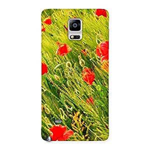Cute Beauty Flowers Farm Back Case Cover for Galaxy Note 4