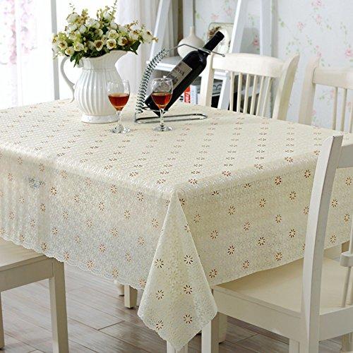 Global- Style Nordique Rectangle PVC Étanche Table À Manger Nappe Salon Table Basse Four Seasons Place Mat ( taille : 138*138cm )