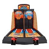 Juego de Tiro de Baloncesto 2-Jugador Mesa de Escritorio Juegos de Baloncesto Juegos clásicos de Arcade Juego de aro de Baloncesto para niños Adultos
