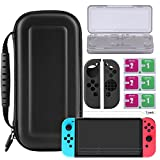 Bestico Protector Kit per Nintendo Switch, Switch Accessori 4 in 1 include Nintendo Switch Custodia/Case per Game Card /3pcs HD Pellicole Protettive per Nintendo Switch / Cover Protettiva in silicone Joy-Con immagine