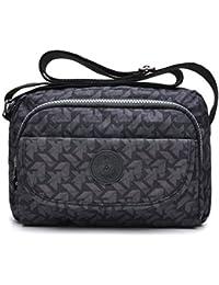 fe481cfcfc4 tuokener Bolsos de Mujer Nylon Impermeable Bolso Misako Bandolera Hombre  Bolsa para Mujer Viajar Crossbody Bag