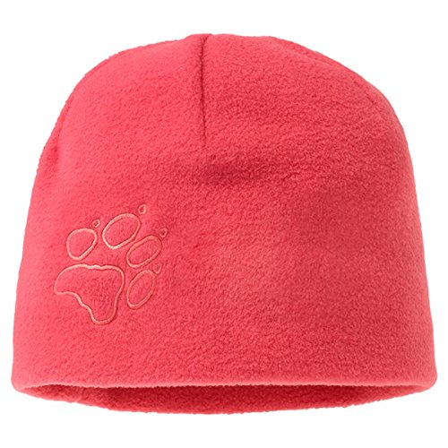 Jack Wolfskin Kinder Mütze Kids Fleece Cap, Pale Cherry, 49-55 cm, 1901891-2640495