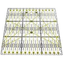 Hrph Reglas de patchwork acrílico escala exacta transparente regla hogar jardín artes artesanía herramientas de coser