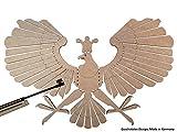 Schützenvogel, Schützenadler, Zielscheibe, Schießspaß fürs Luftgewehr Diabolos 4,5 mm , Schützenfest, Schießsport, Schießziel, Holzvogel, MADE in GERMANY (1)