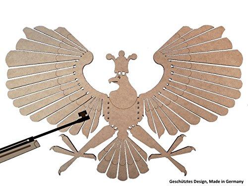 Schützenvogel 2er Set, Schützenadler, Zielscheibe, Schießspaß fürs Luftgewehr Diabolo 4,5 mm, Schützenfest, Schießsport, Schießziel, Zielscheibe, Holzvogel, MADE in GERMANY (2)