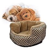 SymbolLife Hundebett Hundekissen Hundesofa Katzenbett Tierbett Komfortbett Oval für Hunde oder Katzen, Größe L, 50*22cm