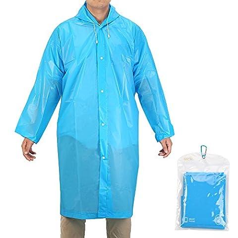 Raincoat, KAKOO Portable Rain Poncho Cape Rain Avec Capuche et Manches Pour Randonnée en Plein Air Camping Randonnée (bleu)
