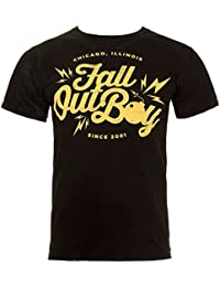 Official FALL OUT BOY T Shirt Black BOMB Logo Vintage/Distressed All Sizes
