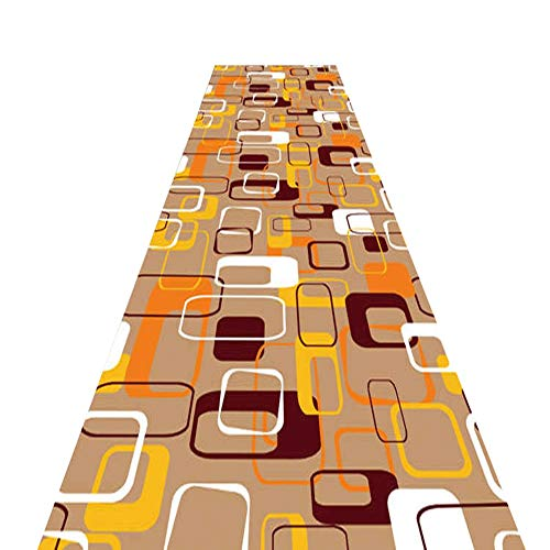 Läufer Teppich Flur Langer Teppich rutschfeste Anti-Statik-Geräuschreduzierung Cuttable Maschinenwaschbar,Home Decoration Mat 7mm (Color : B, Size : 1.2x3m)