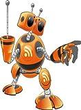 Adesivo bambini Robot altezza 60cm E652