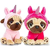 Keel Toys Pugsley 20cm Unicorn Pug Dog, Assorted