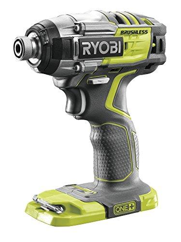 Ryobi R18IDBL-0 Trapano Avvitatore ad Impulsi 18 V Colore Grigio e Verde, 200 W, Hyper Green