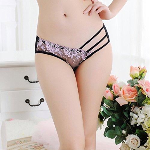 Czj-Innovation Donna Pizzo Biancheria intima Mutande Sexy Slip Culotte - Dimensioni libero A-Rosa