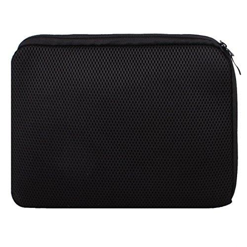 SODIAL(R) 11.6 pouce 12 pouce 12.1 pouce 12.4 pouce Sac a bandouliere pour ordinateur portable Housse de transport Noir pour HP ASUS Macbook Air Acer