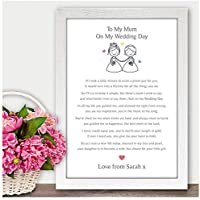 Personalised Mother of the Bride Thank you Gift Keepsake - Mum Mummy Step Mum Wedding Memories Gift - Thank You Presents for Mother of the Bride - A5, A4, A3 Prints and Frames - 18mm Wooden Blocks
