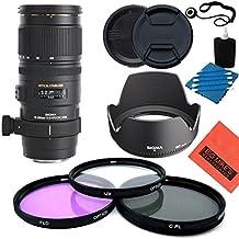 Sigma 70–200mm f/2,8Apo EX DG OS HSM FLD lente de zoom telescópico para Canon cámara réflex digital–Kit de inicio