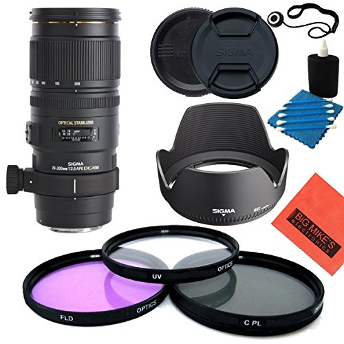 Sigma 70–200mm f/2,8APO EX DG HSM OS FLD Teleobjektiv Zoom Objektiv für Canon Digital SLR Kamera–Starter Kit