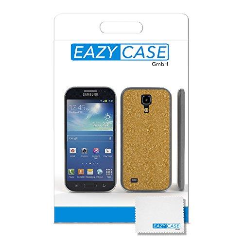 Samsung Galaxy S4 Mini Hülle - EAZY CASE Handyhülle - Ultra Slim Glitzer Schutzhülle aus Silikon in Pink Glitzer Gold