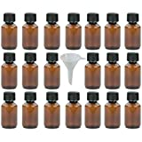 20 x braune Laborflasche 100 ml aus Kunststoff (PET), Apothekerflasche, Veralflasche inkl. Einfülltrichter