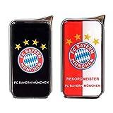 Mein Landhaus Feuerzeug FC Bayern München Atomic Doming - offizieller Lizenzartikel (2er Set schwarz und rot/weiß)