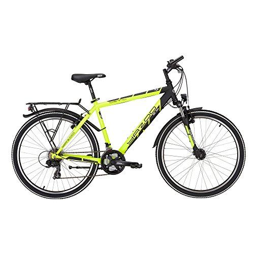 Yazoo Devil 2.6 Jungen 26 Zoll 21 Gang Kettenschaltung Jugend Fahrrad 2017, Farbe:Gelb;Rahmenhöhe:38 cm