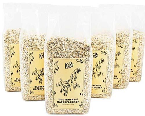 KoRo - Bio Haferflocken Kleinblatt, Glutenfrei 6 x 500 g - Perfekt für Müsli und Porridge zum Frühstück - Demeter-schokolade