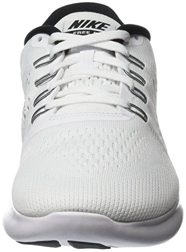 Nike Free RN, Chaussures de Running Entrainement Homme Blanc (White/Black)