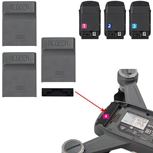 Kismaple SPARK Körper Schutz Staubdichter Stecker + Batterie Anti Staub Abdeckung Kappe Für DJI Spark (4 Stück) (Kappe Und Rotor)