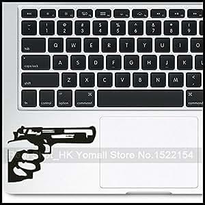 Top Top en vue Gun Vinyle autocollant pour Apple MacBook Pro Retina pouces Touchpad Autocollant pour Mac sacoche d'ordinateur portable Skin autocollant