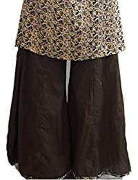 Ethnic Oyster Cotton Designer Plain Casual Wear Palazzo Pant , Use For Women & Girls